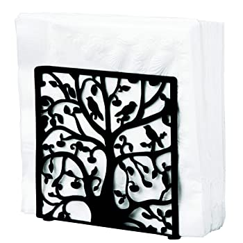 My Gift Metal Tree & Bird Design Napkin Holder
