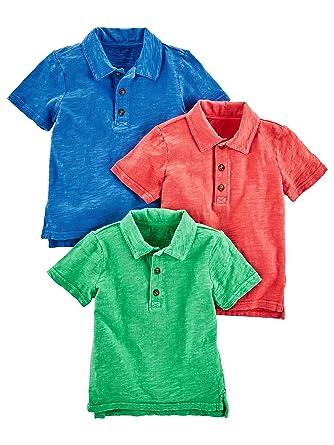 6fcd0f3d4 Amazon.com: Simple Joys by Carter's Toddler Boys' 3-Pack Short Sleeve Polo:  Clothing