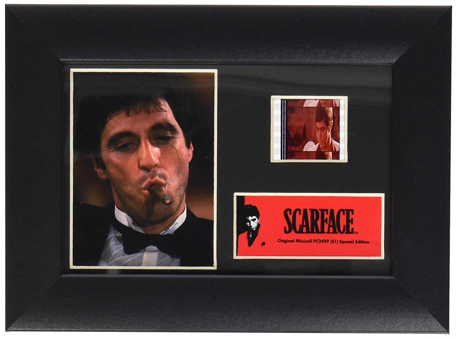 Scarface (Tony Montana with Cigar) Authentic 35mm Film Cells Special Edition Display
