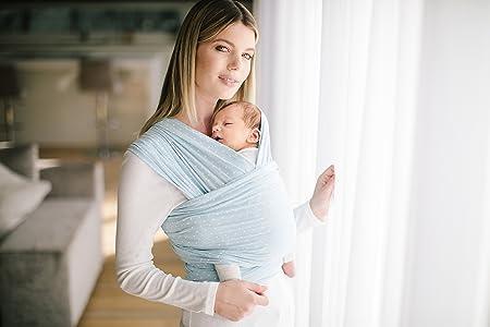 Ergobaby Écharpe de Portage Bébé pour Nouveau-nés Jusqu à 11 kg, Sling Baby  Blue  Amazon.fr  Bébés   Puériculture 1cecb36a69d