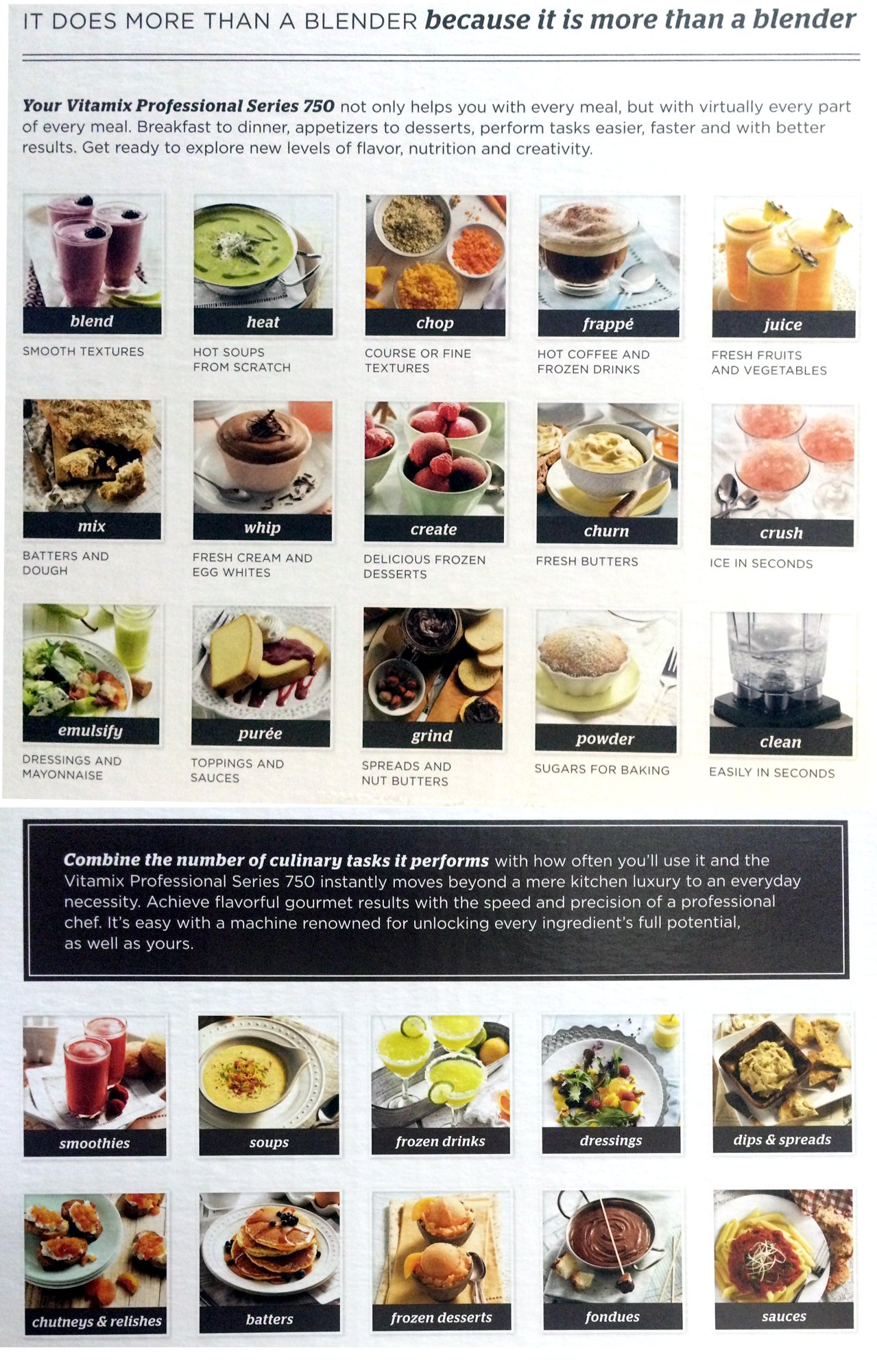 Vitamix Professional Series 750 Blender (1944) Bundle Includes: 10-Day Green Smoothie Cleanse: Lose Up to 15 Pounds in 10 Days! Paperback Book and Two Accelerator/Tamper Tools (Brushed Stainless Finish)