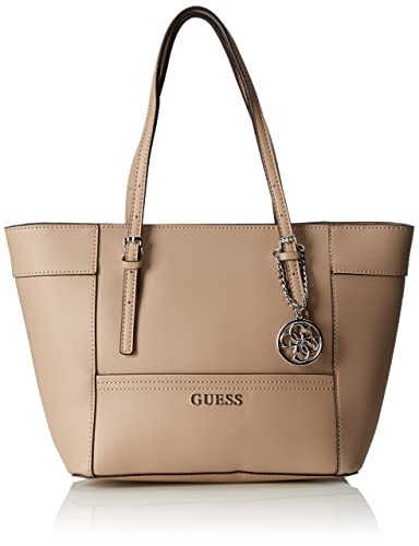 aa753bdcdedb GUESS sac cabas DELANEY HWEY45 35220 - TAN  Amazon.fr  Chaussures et Sacs