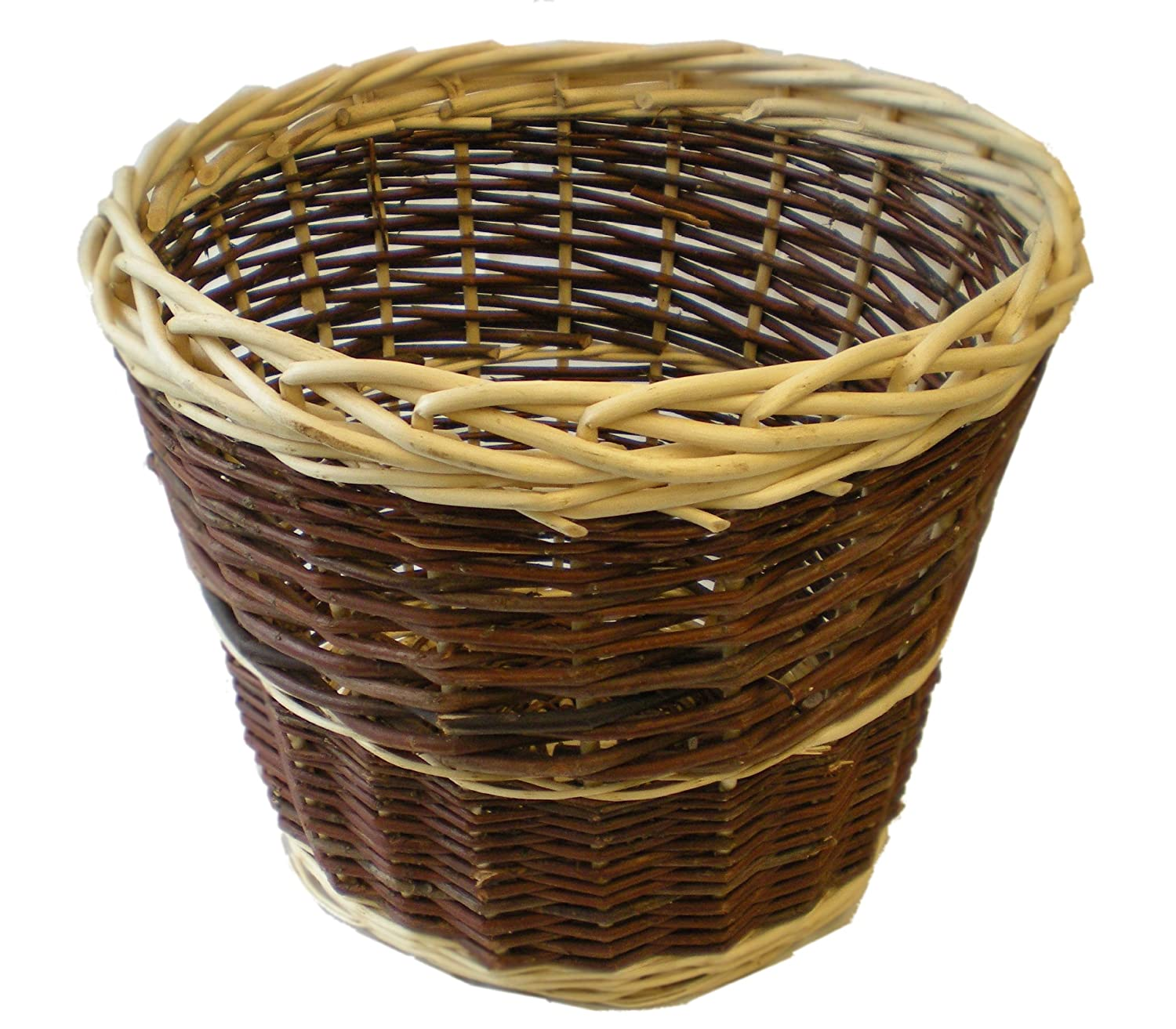 Round Wicker Wastepaper Basket - Smaller Size