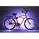 GlowRiders - Ultra Bright LED - Bike Wheel Light String (1 pack) - Assorted Colors Bicycle Tire Accessories- Burning Man Accessory