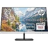 HP モニター 27インチ 4K ディスプレイ 解像度3840x2160 非光沢 IPSパネル 高視野角 超薄型 省スペース HP 27f 4K 5ZP65AA#ABJ