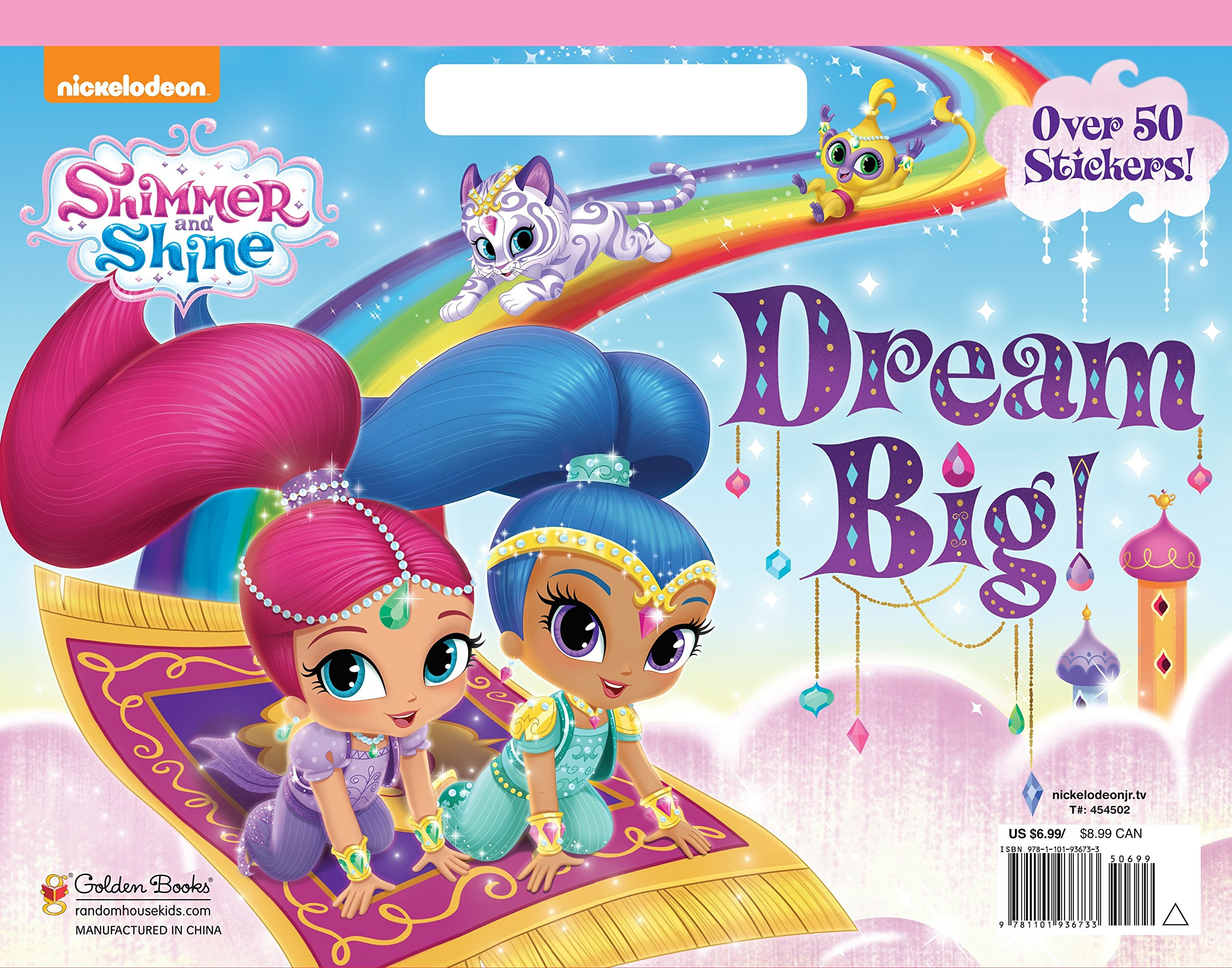 Dream Big! (Shimmer And Shine) (Big Coloring Book): Golden Books
