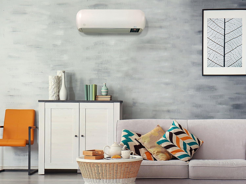 PURLINE HOTI M19 Calefactor cerámico de Pared 19W / 19W con  Temporizador y Mando a Distancia