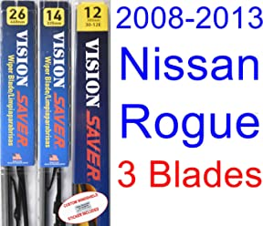 2008-2013 Nissan Rogue Replacement Wiper Blade Set/Kit (Set of 3 Blades