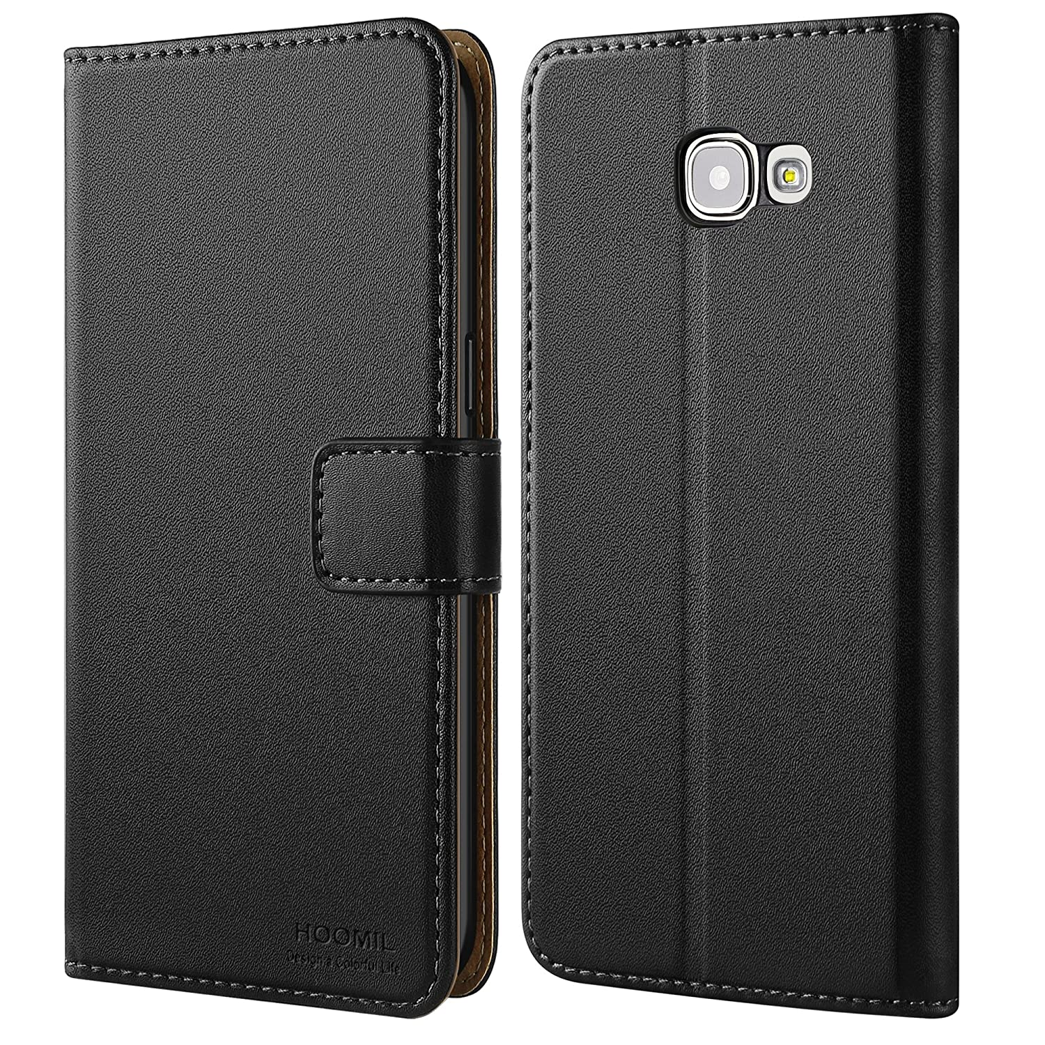 half off 26a86 cfb73 HOOMIL Case Compatible with Samsung Galaxy A5 2016, Premium Leather Flip  Wallet Phone Case for Samsung Galaxy A5 2016 Cover (Black)