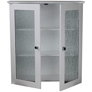 Amazon Com Elegant Home Fashions Rain Collection Wall Cabinet With