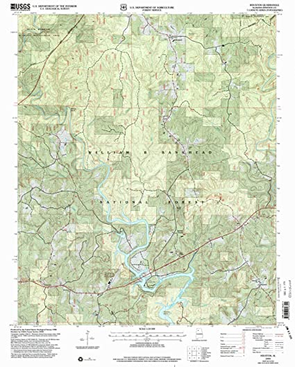 Amazon Com Yellowmaps Houston Al Topo Map 1 24000 Scale 7 5 X