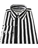 Retro Mod Relco Vintage Black/White Stripe 100% Cotton Button Down Shirt`s
