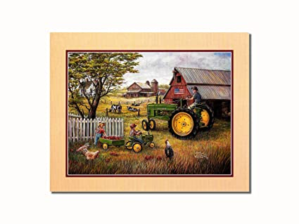 Amazon.com: John Deere Tractor Drivin\' Man Wall Picture 8x10 Art ...