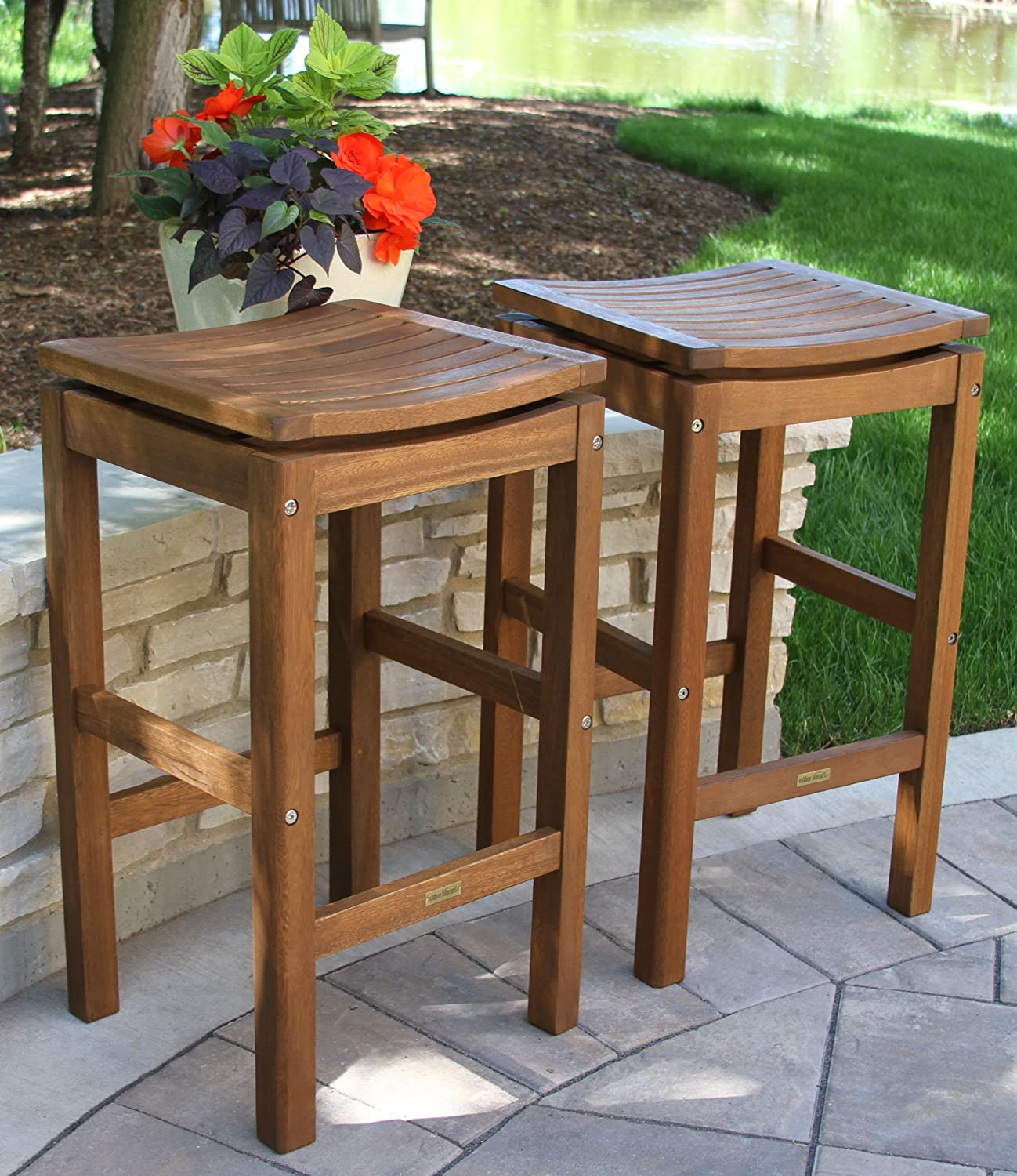 Amazon Patio Pub Height Super Stool 2 pack Folding Patio