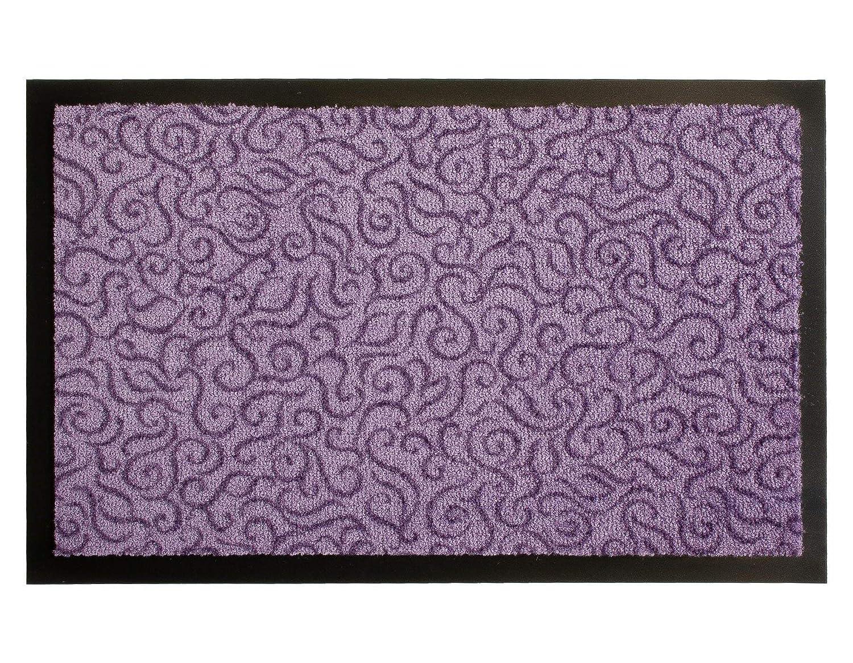 Fu/ßmatte Rutschfest Lila Flieder 40x60 cm Schmutzfangmatte T/ürvorleger BRASIL Sauberlaufmatte f/ür Innen und Au/ßen Geeignet Waschbar