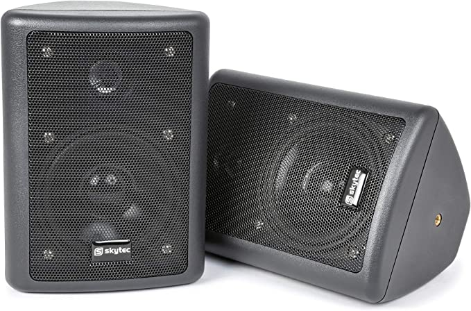 Skytec 100015 - Conjunto de altavoces stereo negro 75w