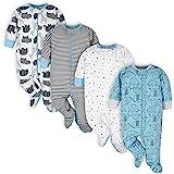 Onesies Brand Baby Boys 4-Pack Sleep 'N Plays Footies