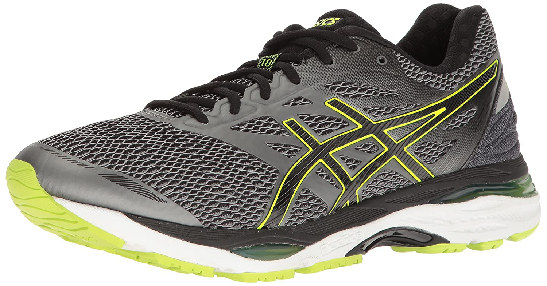 ASICS Men's Gel-Cumulus 18 Running Shoe B01GU8P5U0 12.5 D(M) US|Carbon/Black/Safety Yellow