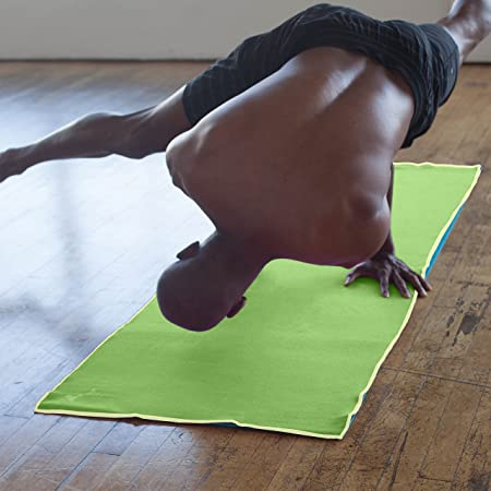YogaRat Yoga Towel: 100% Microfibra Antideslizante, Delgado ...