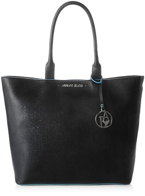 57663676f9 Armani Jeans Borsa Shopping - Borse a Spalla Donna, Schwarz (Nero), 33x11x45
