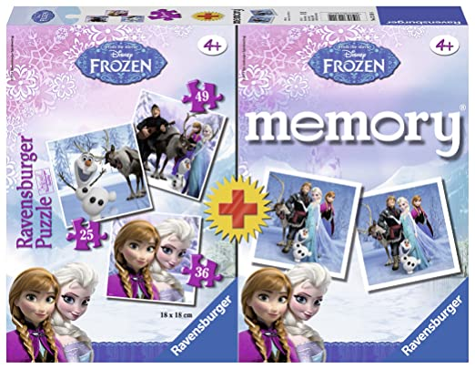 48 opinioni per Ravensburger 22311 4- Frozen Multipack, 3 Puzzle + 1 Memory