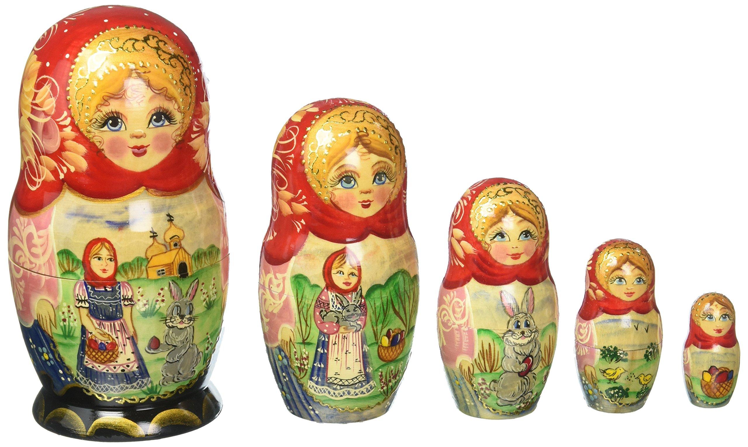 G. Debrekht Easter Story Nested Doll, 6''