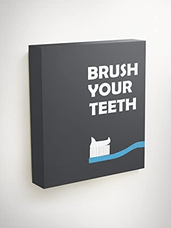 Amazoncom Brush Your Teeth Wall Art Dental Hygienist Gifts Clinic