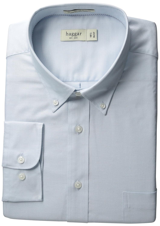 Haggar Men's Regular-Fit Pinpoint Oxford Solid Dress Shirt Haggar Men' s Bottoms HW00094