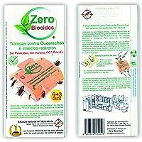 Zero Biocides 9 Trampas para Cucarachas con atrayente