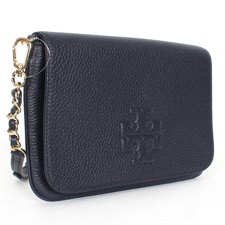 d2d6dcab21f5 Tory Burch Thea Foldover Clutch Navy  Handbags  Amazon.com