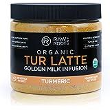 Raw And Root - TUR LATTE - Organic Turmeric Latte Mix with Black Pepper, Adaptogenic Herbs, Makes Turmeric Golden Milk, Anti-Inflammatory, USDA Organic, Non GMO, Vegan, Gluten-free, 45 Servings