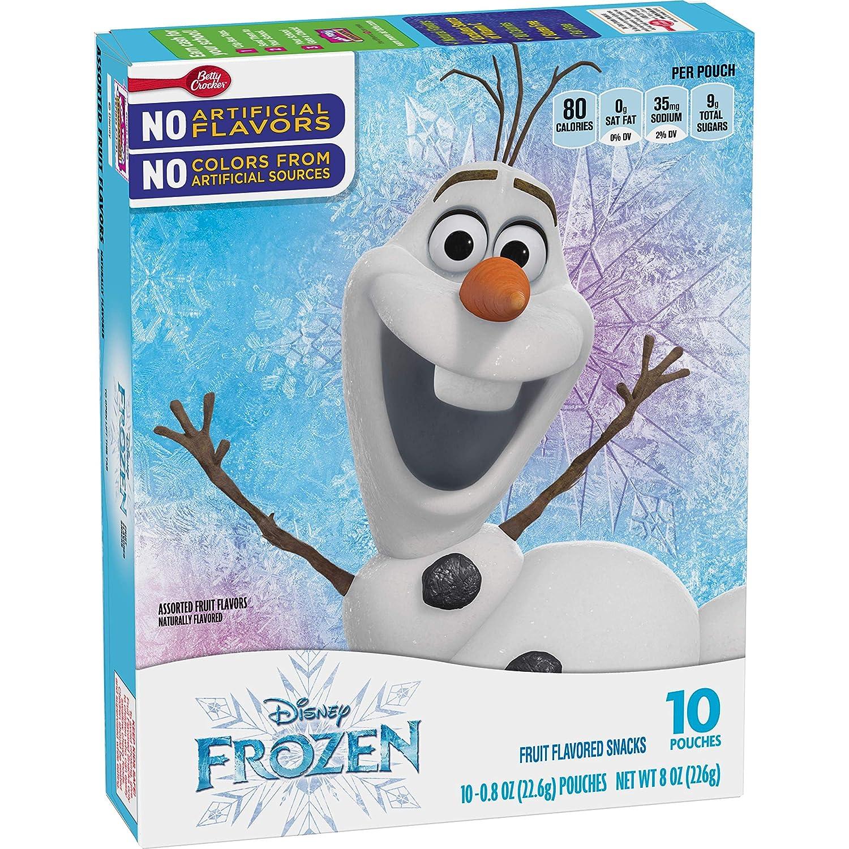 Betty Crocker Fruit Flavored Snacks Disney Frozen, 10 Count