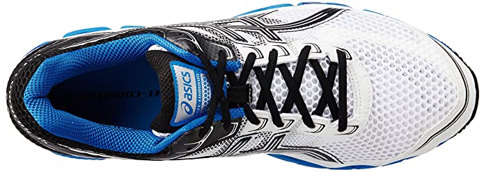15a0e47c3b9 ASICS Men s Gel-Cumulus 15 White and Black Royal Mesh Running Shoes - 13 UK   Buy Online at Low Prices in India - Amazon.in
