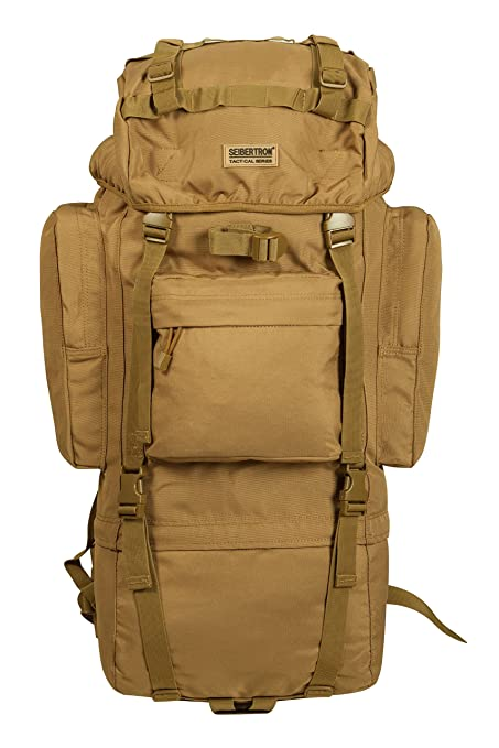 f4a61a21358e Seibertron Military Molle Backpack 900D Oxford Waterproof Tactical Hiking  Camping Backpack 65L Internal-frame Travel Sports Bag