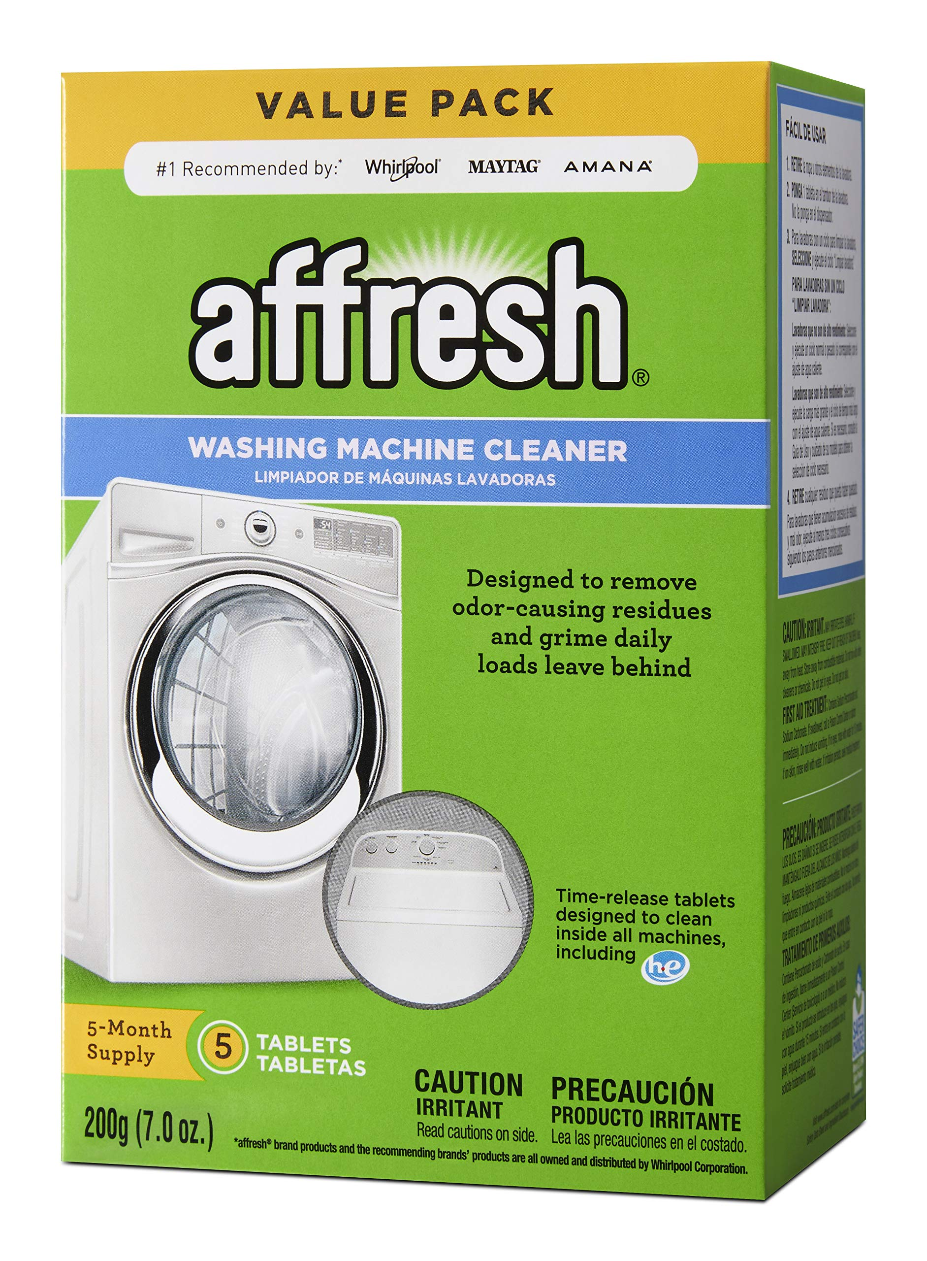 Affresh W10549846 Washing Machine Cleaner 5 Tablets white 5 Count product image