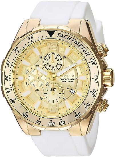 Invicta 24578 Aviator Reloj para Hombre acero inoxidable Cuarzo Esfera oro: Amazon.es: Relojes
