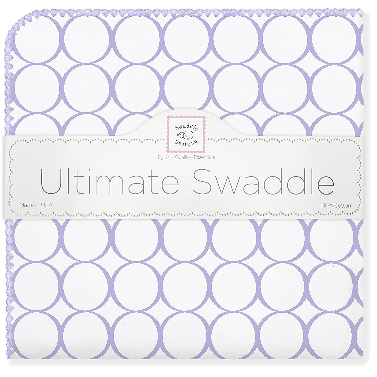 Pastel Blue Mod Circles SwaddleDesigns Ultimate Winter Swaddle X-Large Receiving Blanket Made in USA Premium Cotton Flannel Moms Choice Award Winner