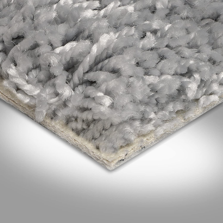 Variante BODENMEISTER BM72231 Teppichboden Auslegware Meterware Hochflor Shaggy Langflor Velour grau hell 400 und 500 cm breit 2 x 4 m verschiedene L/ängen