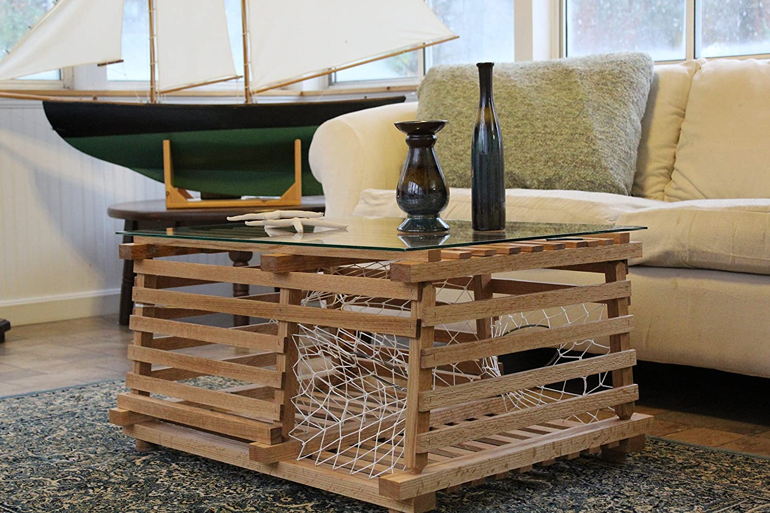 Amazon Com Maine Wooden Lobster Trap Coffee Table Handmade