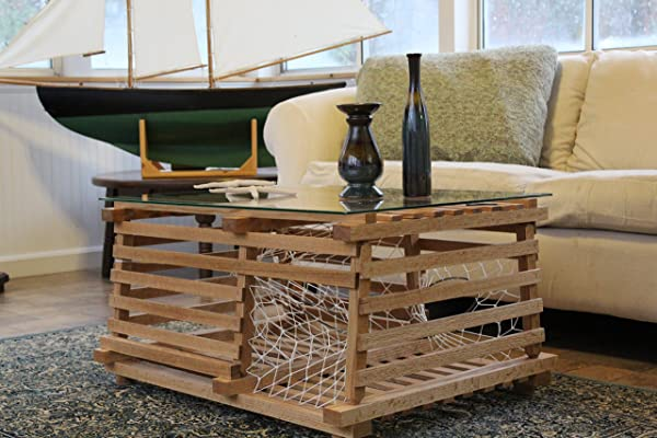 Maine Wooden Lobster Trap Coffee Table