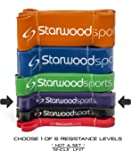 Starwood Sports Resistance Bands - Pull Up Bands – Exercise Bands for CrossFit - Powerlifting - Assisted Pull Ups - Mobility Bands (One Band) for Men and Women
