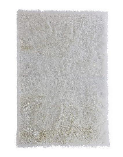 Amazon Home Decorators Collection Faux Sheepskin Area Rug 5X8 White Kitchen