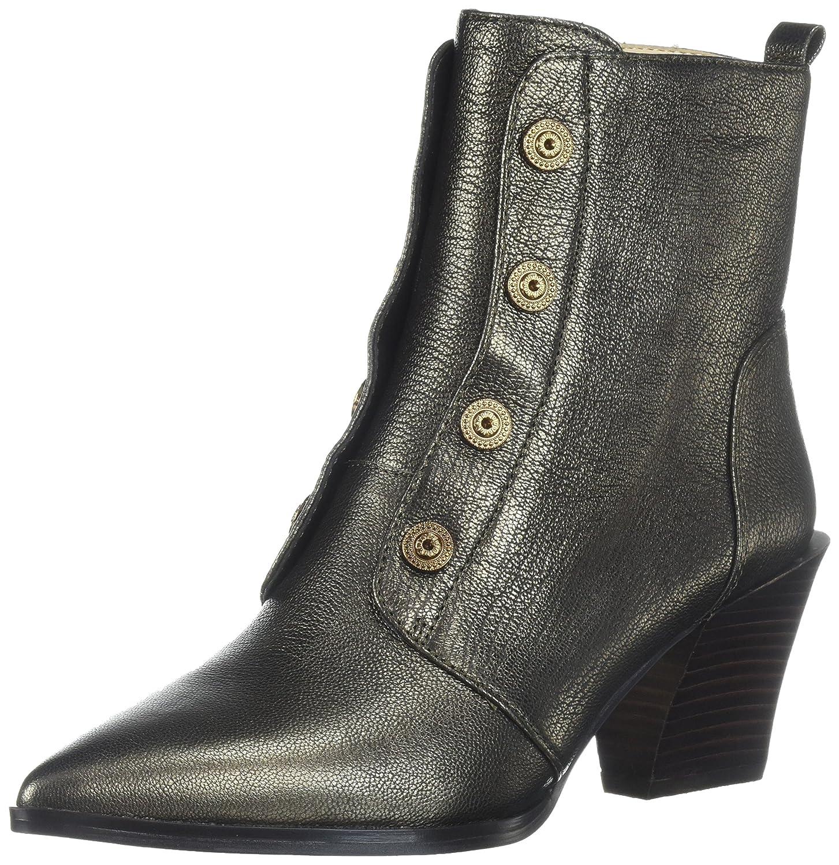 Nine West Women's Ellsworth Ankle Boot B06WD3N3ST 5.5 B(M) US|Dark Gold/Metallic