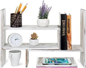 office shelf. MyGift Whitewashed Wood Adjustable Desktop Office Organizer Display Shelf T