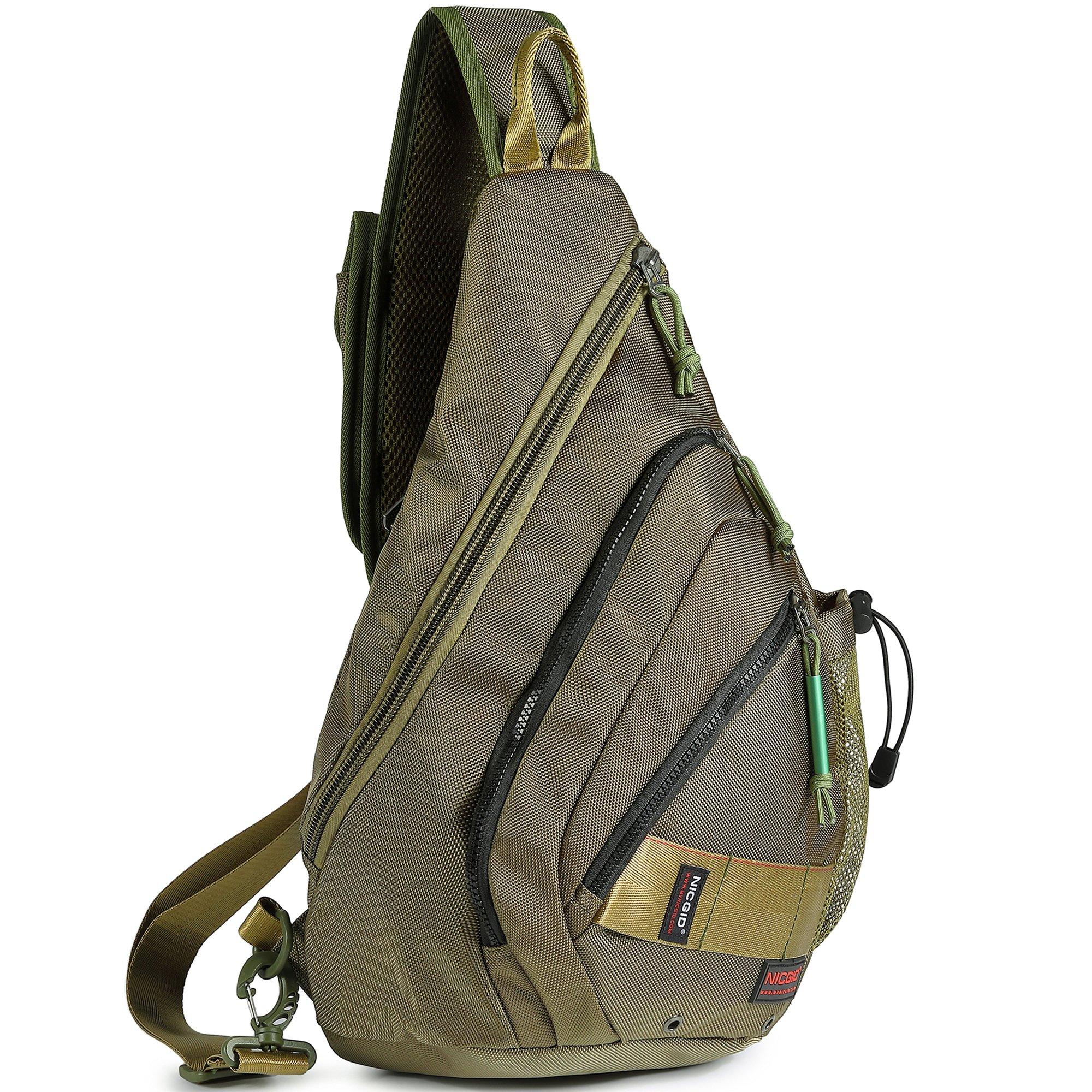 Sling Bag Backpack, Sling Shoulder Bags 13.3-Inch Laptop Travel Outdoors Daypack by Nicgid