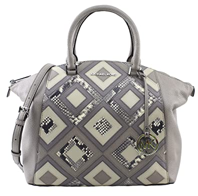 2d577dca92cb Amazon.com: Michael Kors Riley Large Satchel Bag Leather DK Taupe  (35S8SRLS3E): Shoes