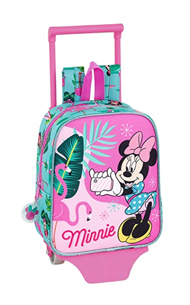 "Minnie Mouse ""Palms"" Oficial Mochila Guardería Con Carro Safta, 220x100x270mm"