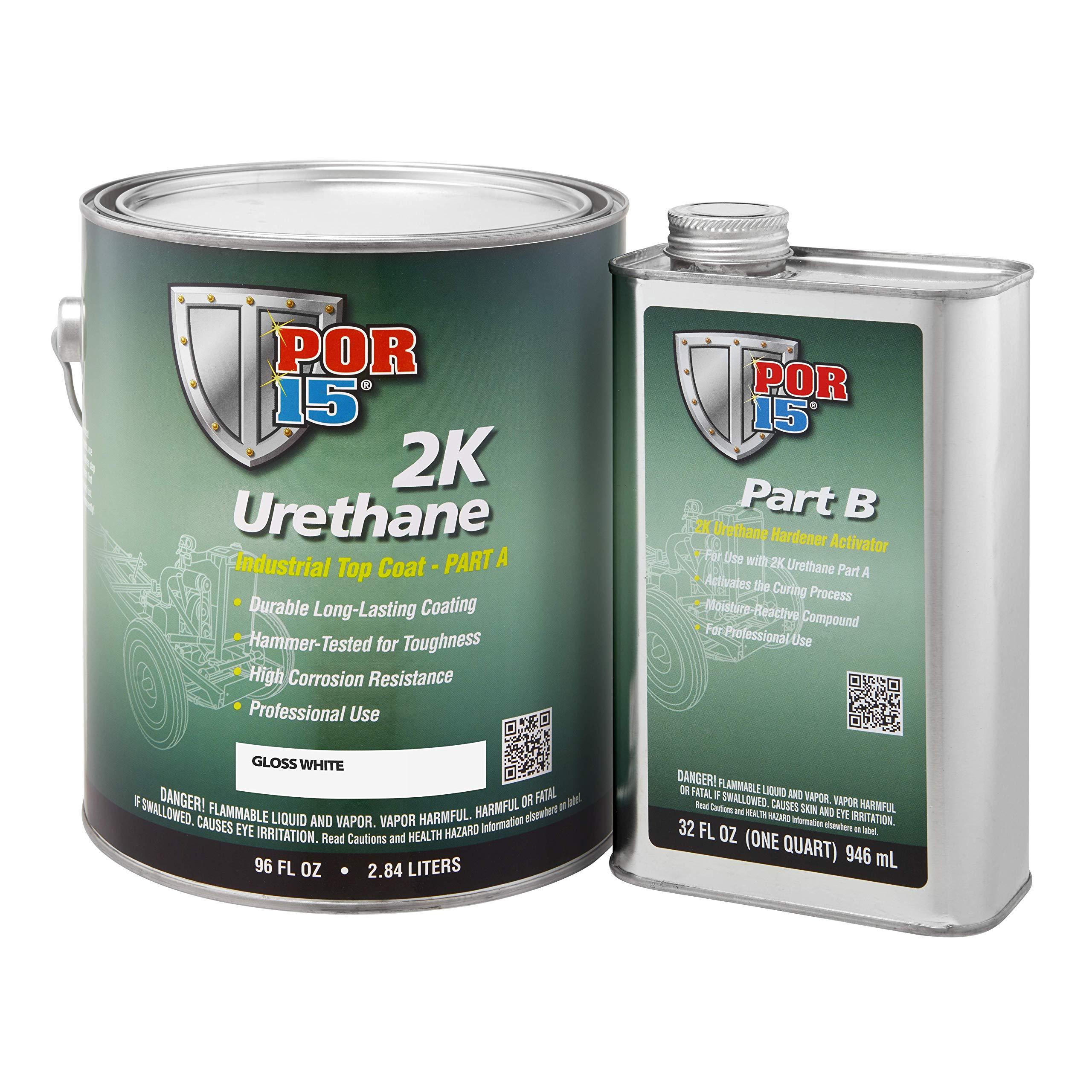 POR-15 43401 Gloss White 2K Urethane - 1 gal