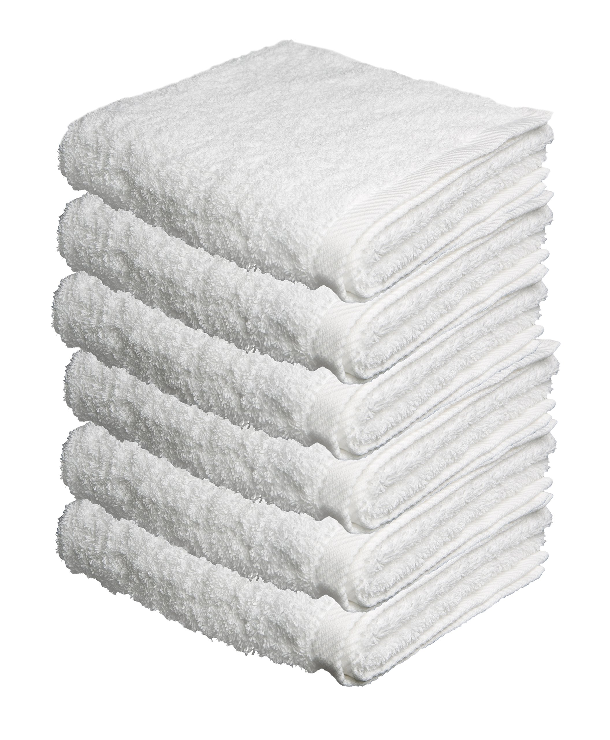 BUNDLE OF 6, 40''x80'', Turkish Spa Bath Sheet, 660 GSM. (WHITE) by ThirstyTM Towels OR Pamooq