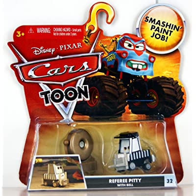 Disney / Pixar CARS TOON 155 Die Cast Car Referee Pitty with Bell: Toys & Games [5Bkhe0501142]